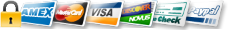 We accept all major credit cards. Payment will be collected in a secure, encrypted page